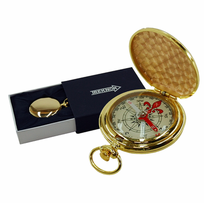 Treknor Pocket Compass - Gold