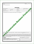 Style #3 Construction Proposal and Change Order Forms Package