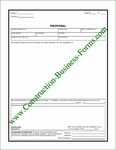 Construction Proposal Form Style #3