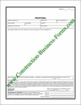 Construction Proposal Form Style #4
