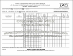 New Jersey Payroll Certification for Public Works Projects Form - both pages