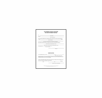 California Stop Notice Release Forms