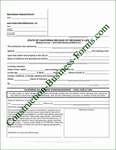 California Mechanic's Lien Release Form