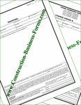 Style #5 Construction Proposal and Change Order Forms Package