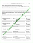 Washington State Construction Lien Waiver Release Form