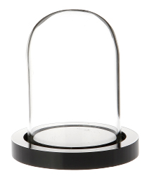 "Glass Dome with Black Acrylic Base - 1.875"" x 2.75"""
