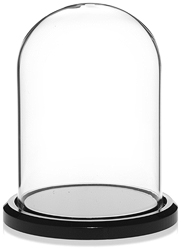"Glass Dome with Black Acrylic Base 3"" x 4"""