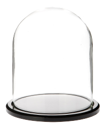"Glass Dome with Black Acrylic Base - 4.5"" x 6"""