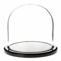 "Glass Dome with Black Acrylic Base - 4"" x 4"""
