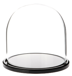 "Glass Dome with Black Acrylic Base - 5.5"" x 5.5"""