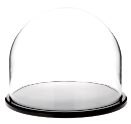 "Glass Dome with Black Acrylic Base - 8"" x 6.5"""