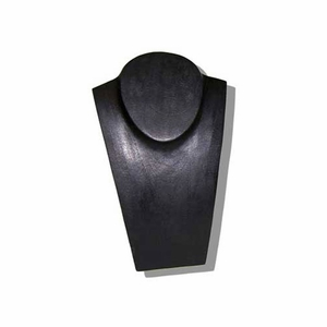 10in. Wood Jewelry Bust Black