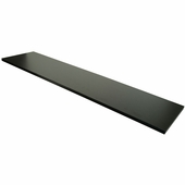 12in.x 48in. Wood Melamine Shelf Black