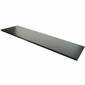 14in.x 48in. Wood Melamine Shelf Black
