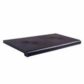 15in. x 50in. Open Bottom Duron Shelves Black (Box of 4)
