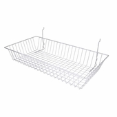 24in.W x 12in.D x 4in.H All-Purpose Shallow Basket Silver