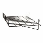 24in.W x 15in.D Straight Gridwall Shelf w/ Front Lip