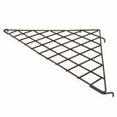 24in. x 24in. x 34-1/2in. Triangular Gridwall Shelf