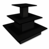 3 Tier Square Waterfall Table Black