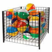 36 in. Square Wire Grid Dump Bin Black