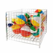 36in. Square Wire Grid Dump Bin Chrome