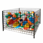 48 in. Square Wire Grid Dump Bin Black