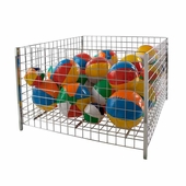 48 in. Square Wire Grid Dump Bin Chrome
