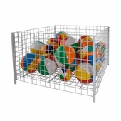 48 in. Square Wire Grid Dump Bin White