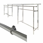 Add-On Hangrail Double Bar Clothing Racks 60 inch