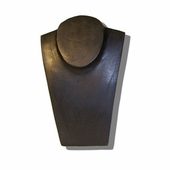 Wood Jewelry Bust Black 8 inch