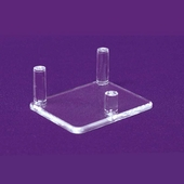 Acrylic 3 Peg Display (Box of 288)