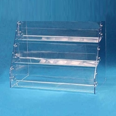 Acrylic Angled-Rack Card Displays 3 Tier