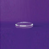 Acrylic Beveled Round Base 3in.
