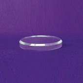 Acrylic Beveled Round Base 5in.