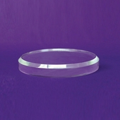 Acrylic Beveled Round Base 7in.
