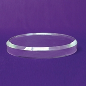 Acrylic Beveled Round Base 9in.