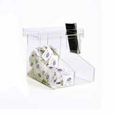 Acrylic Boot-Style Coffee Organizers 2 Section