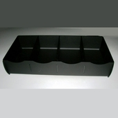 Acrylic Four Compartment Utensil Station