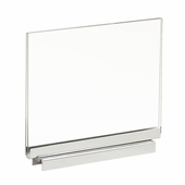 Acrylic Sign Holder 7in.W x 5-1/2in.H With Magnetic Base