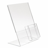 Acrylic Slantback Sign/Brochure Holder