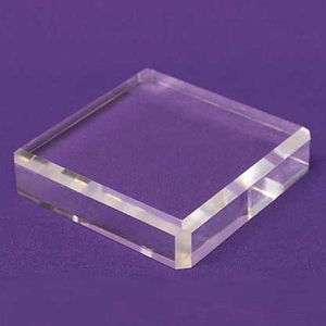 Acrylic Square Beveled Bases 10in.