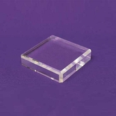 Acrylic Square Beveled Bases 6in.