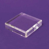 Acrylic Square Beveled Bases 8in.