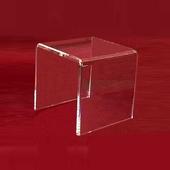 "Acrylic Thick Beveled Risers 10""x10""x10"""