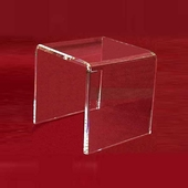 "Acrylic Thick Beveled Risers 11""x11""x11"""