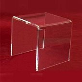 "Acrylic Thick Beveled Risers 12""x12""x12"""