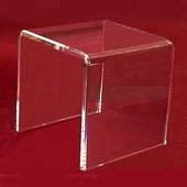 "Acrylic Thick Beveled Risers 14""x14""x14"""