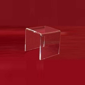 "Acrylic Thick Beveled Risers 6""x6""x6"""