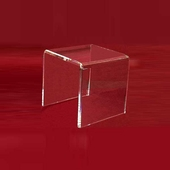 "Acrylic Thick Beveled Risers 8""x8""x8"""