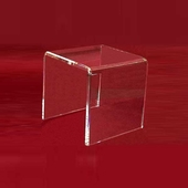 "Acrylic Thick Beveled Risers 9""x9""x9"""